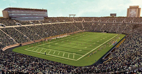 Football game at Notre Dame Stadium