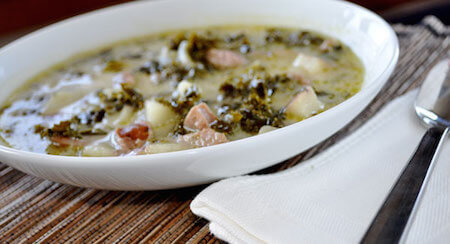 Kale makes this soup extra healthy.