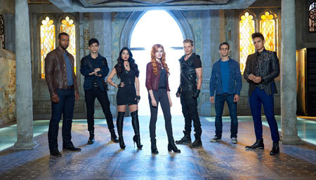 The main cast of Shadowhunters