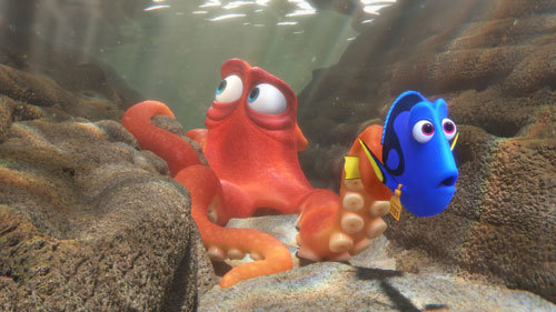 Hank helps Dory on the search for her parents