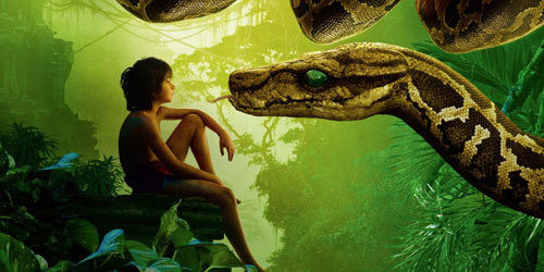 Mowgli with Kaa