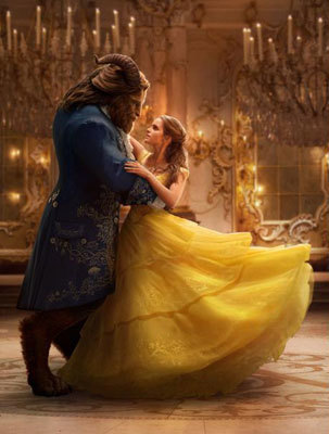 Beast and Belle dancing