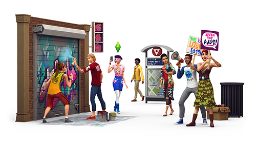 A range of new locations and events span The Sims 4's expansion.