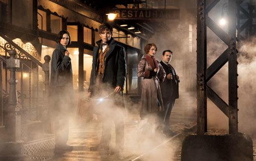 Porpentina, Newt, Queenie and Jacob