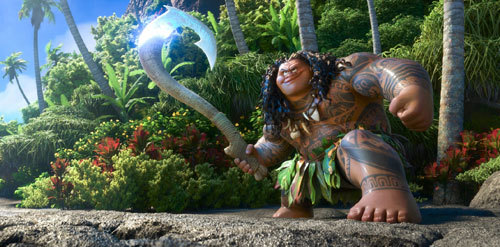 Maui with his magical hook