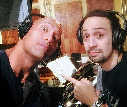 Dwayne and Lin-Manuel selfie