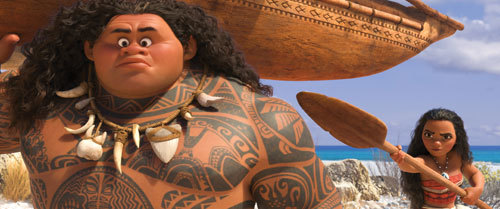 Moana orders Maui to come with her