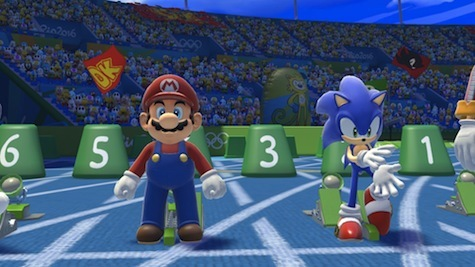 Mario vs Sonic in a foot race? This should be easy for Sonic!