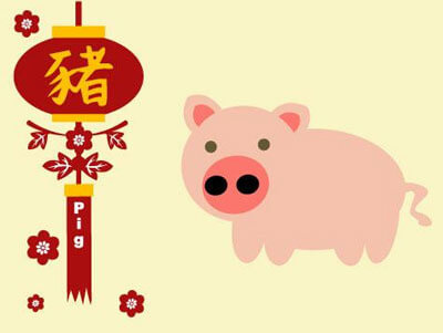 Chinese Zodiac Year of The Pig