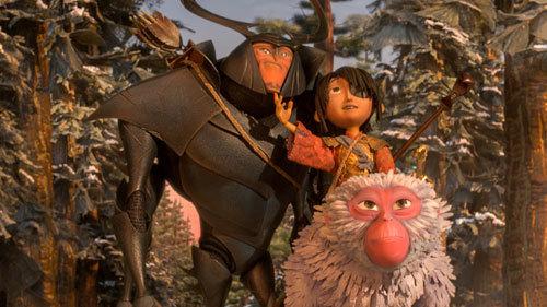 Kubo with his protectors Beetle and Monkey