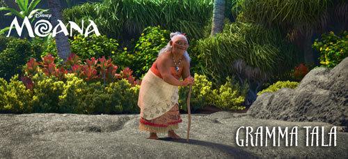 Moana's ocean-loving Grandma Tala