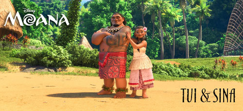 Moana's parents Tui and Sina