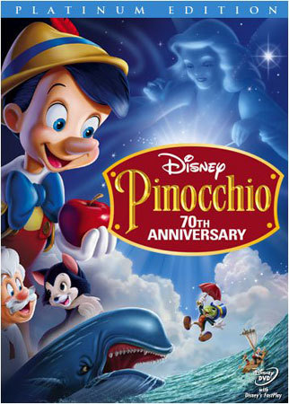 Walt Disney Pinocchio 70th Anniversary Platinum Edition DVD