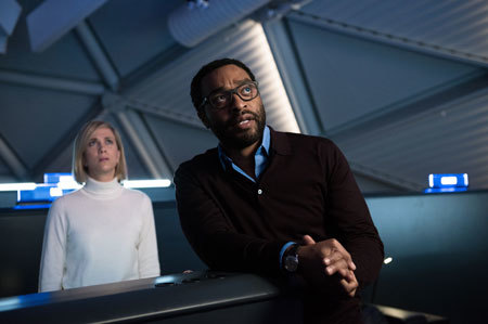 Chiwetel Ejiofor and Kristen Wiig as NASA reps