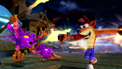 Crash Bandicoot makes his next-gen debut in Skylanders.
