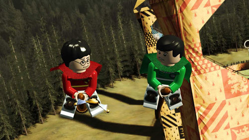Harry's first game of Quidditch is just as you remember it in the movies - but with LEGO.