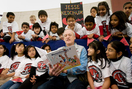 Munsch is known for his oral storytelling skills.