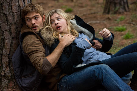 At first, Cassie is afraid of Evan