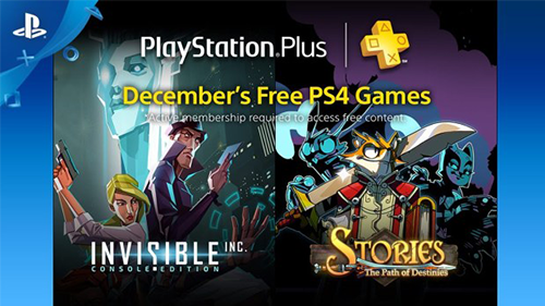 December 2016's PS4 games on PlayStation Plus.