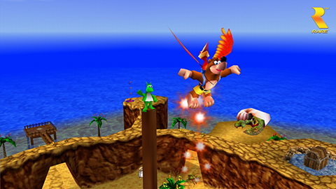 Take to the skies with the help of Kazooie!