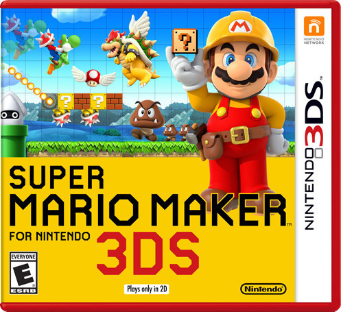 Super Mario Maker 3DS Box Art