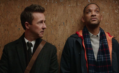 Will as Howard with co-worker Whit (Edward Norton)
