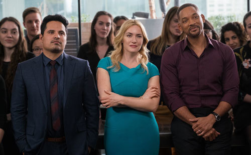 Will with Kate Winslet and Michael Pena from the cast