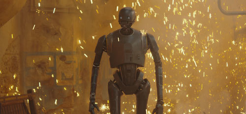 Alan's character K-2S0 as he appears in the film