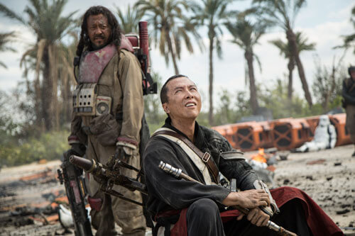 Rebel warriors Baz Malbus and Chirrut Îmwe