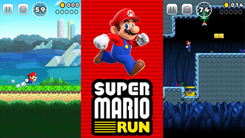 Super Mario Run dashes through classic Mario worlds.
