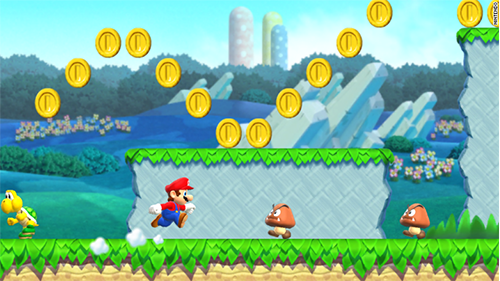 "The newest Mario game is styled after the ""NEW"" Super Mario Bros games."