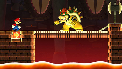Bowser's castle is a staple of Mario games that can't be left out of Super Mario Run!