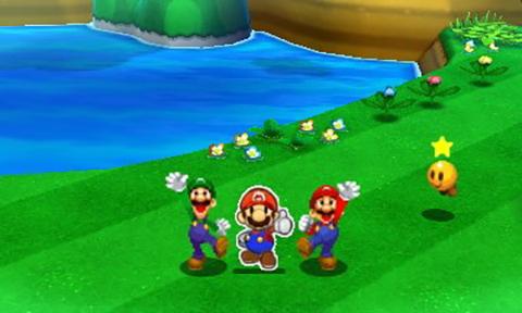 Mario and Luigi team up with Paper Mario!