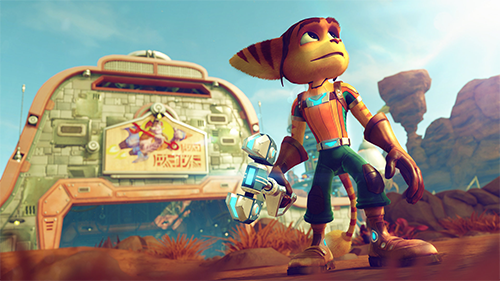 Ratchet and Clank is as goregous as you would expect.