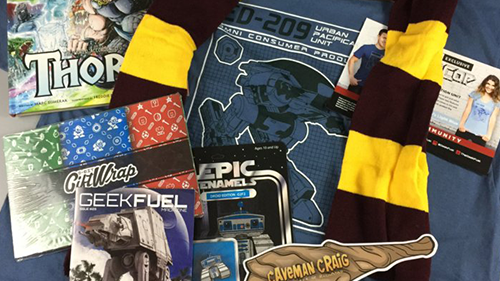 Everything you can get your hands on in this month's Geek Fuel subscription.