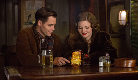Bernie (Chris) with girlfriend Miriam (Holliday Grainger)