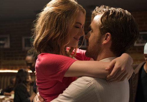 Emma as Mia and Ryan as Sebastian