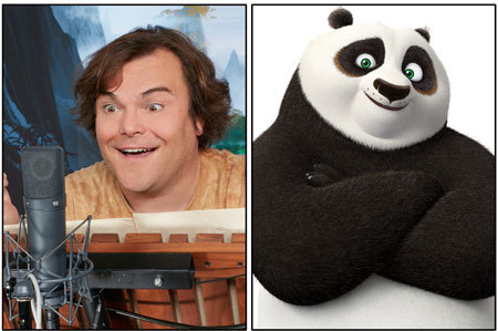 Jack Black as the voice of Po