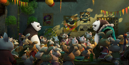 Po meets his long-lost panda father Li