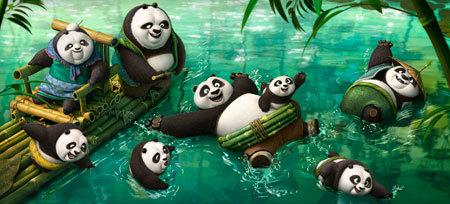 Fun in the panda village