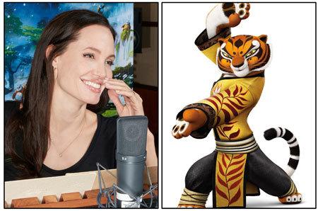 Angelina Jolie has fun as Tigress