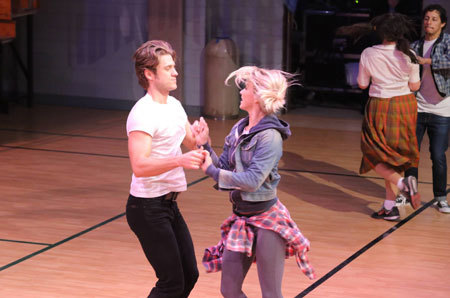 Aaron and Julianne rehearse a dance