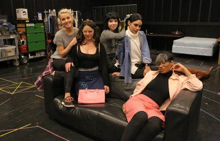 Julianne, Keke, Vanessa, Kether, Carly Rae rehearse