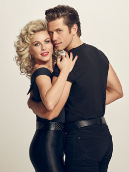 Julianne and Aaron as Sandy and Danny