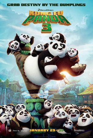 The Kung Fun Panda 3 poster