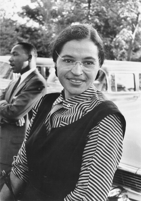 Rosa Parks is pictured here with Martin Luther King, Jr.