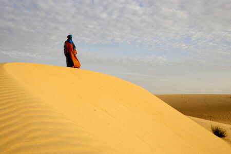 Experts think Timbuktu is in danger of being swallowed by desert sands.