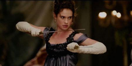 Elizabeth (Lily) ready to zombie bash