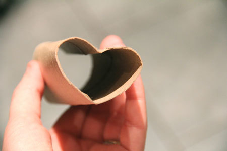 The Cardboard Roll with an Indent to Make It a Heart