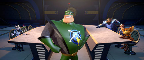Cora, Captain Qwark, Brax and Ratchet